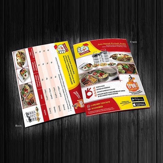 Flyer Kuliner Rantang / Desain