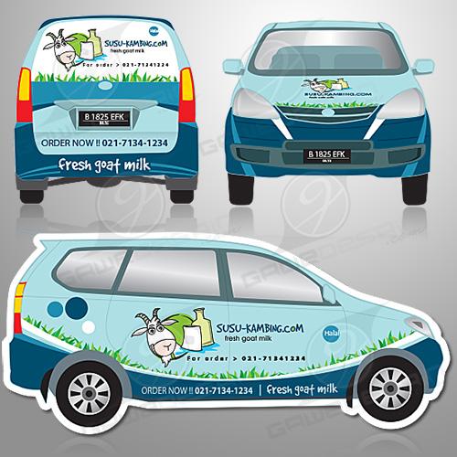 Branding Mobil Susu Kambing / Desain