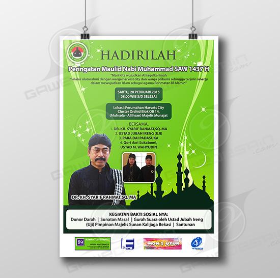 Poster Maulid Nabi Harverst City / Desain