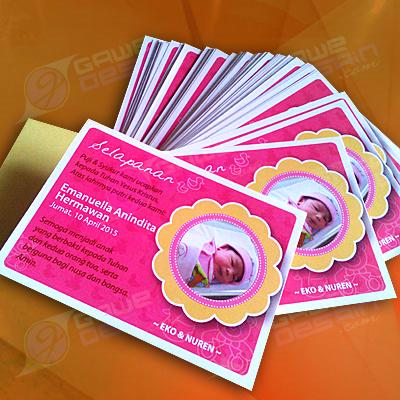 Stiker Kartu Selapanan Personal / Desain&Cetak
