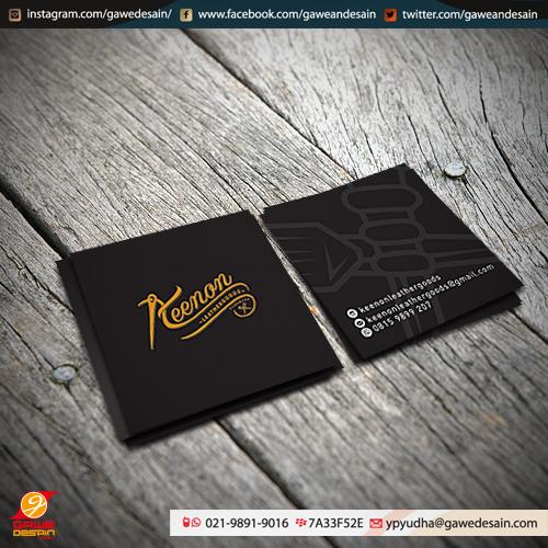 Kartu Nama Keenon Leathergoods / Desain