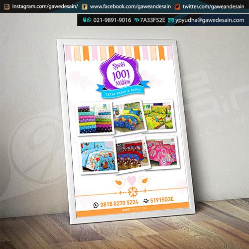Poster Sprei 1001 Malam / Desain