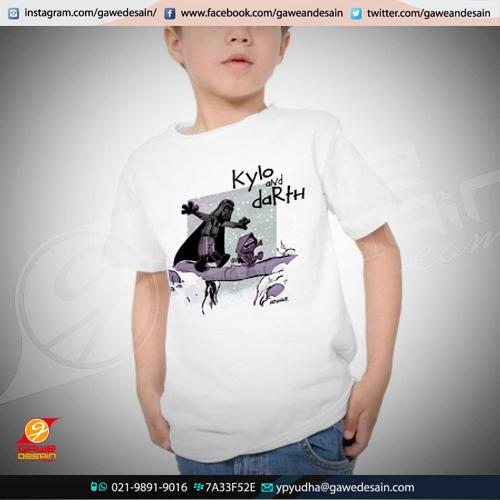 Kaos Anak Kylo & Darth / Cetak Digital