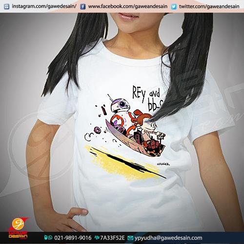 Kaos Anak Rey and BB8 / Cetak Digital