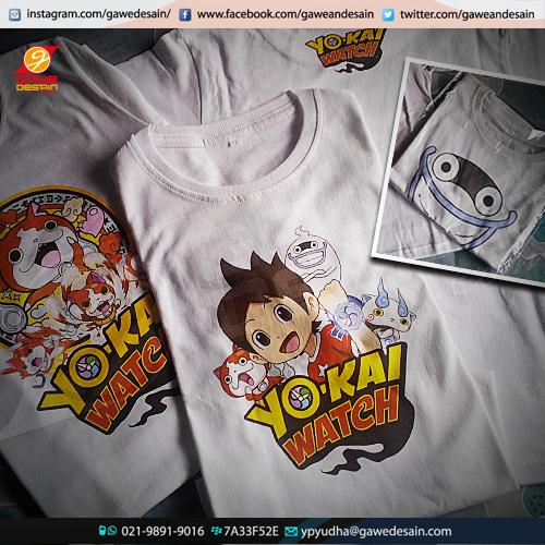 Kaos Yokai Watch / Desain&Cetak DTG
